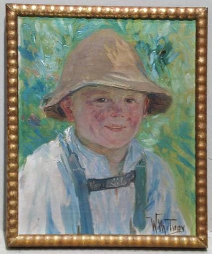 """Wilhelm TUPY - Pintura - """"Austrian Peasant Boy"""" by Wilhelm Tupy, ca 1920"""
