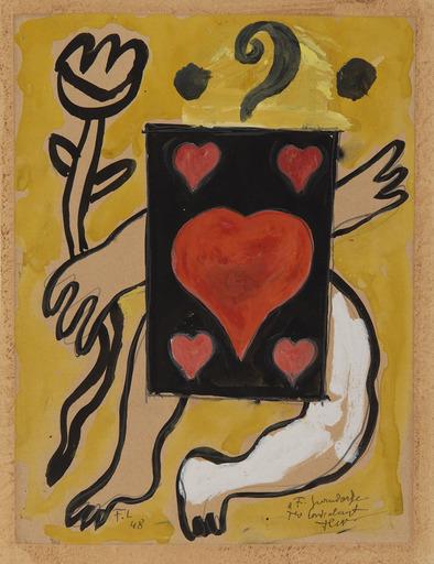Fernand LÉGER - Drawing-Watercolor - L'as de cœur