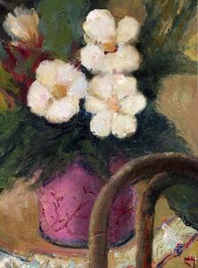 Levan URUSHADZE - Painting - Flowers & chair back