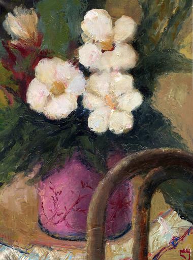 Levan URUSHADZE - Peinture - Flowers & chair back