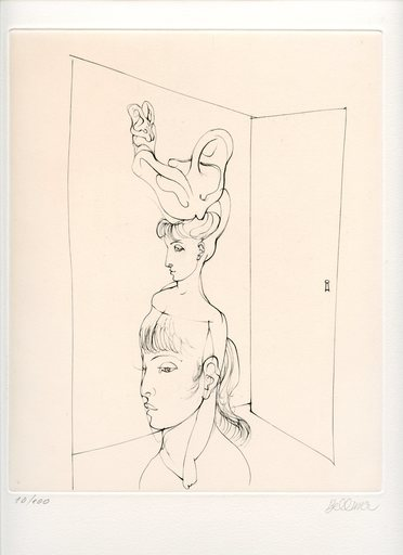 Hans BELLMER - Grabado - GRAVURE 1973 SIGNÉ AU CRAYON NUM/100 HANDSIGNED ETCHING