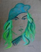 Michel CASTANIER - Zeichnung Aquarell - Sonia