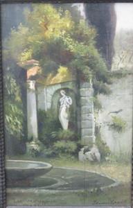 Edmund Friedrich KANOLDT - Gemälde - Leonorenbrunnen Park Villa d´Este