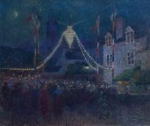 Ferdinand Loyen DU PUIGAUDEAU - Pintura - 14 Juillet à Quimperlé