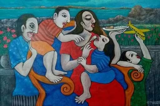 R.U. SUBAGIO - Painting - Happy Family