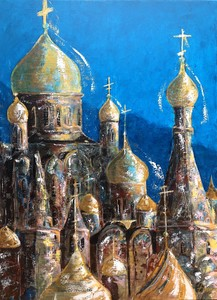 AMEY - Painting - Cathédrales orthodoxes