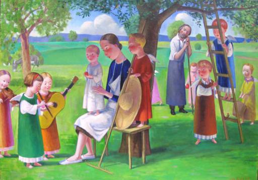 Jan KNAP - Pintura - In campagna