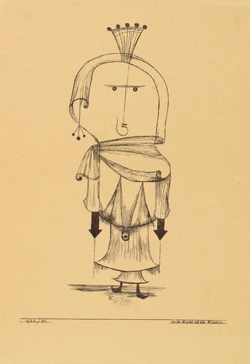 Paul KLEE - Druckgrafik-Multiple - Die Hexe mit dem Kamm