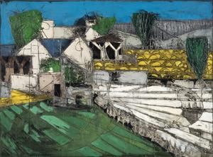 Claude VENARD - Painting - Printemps à la Valles de Chevrouse