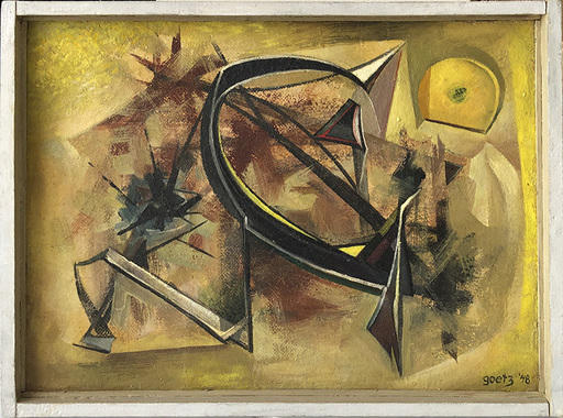 Henri GOETZ - Painting - Abstract Composition