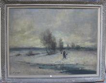 Ivan KARPOFF (1898-1970) - paesaggio innevato