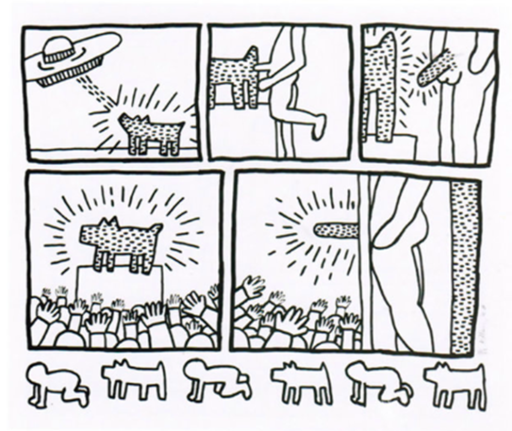 """Keith HARING - Print-Multiple - Number 13 from """"The Blueprint Drawings"""""""