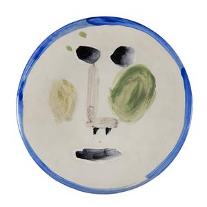 Pablo PICASSO - Céramique - Visage au nez à angle droit