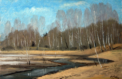 Valeriy NESTEROV - Painting - Pakhra river. Moscow district
