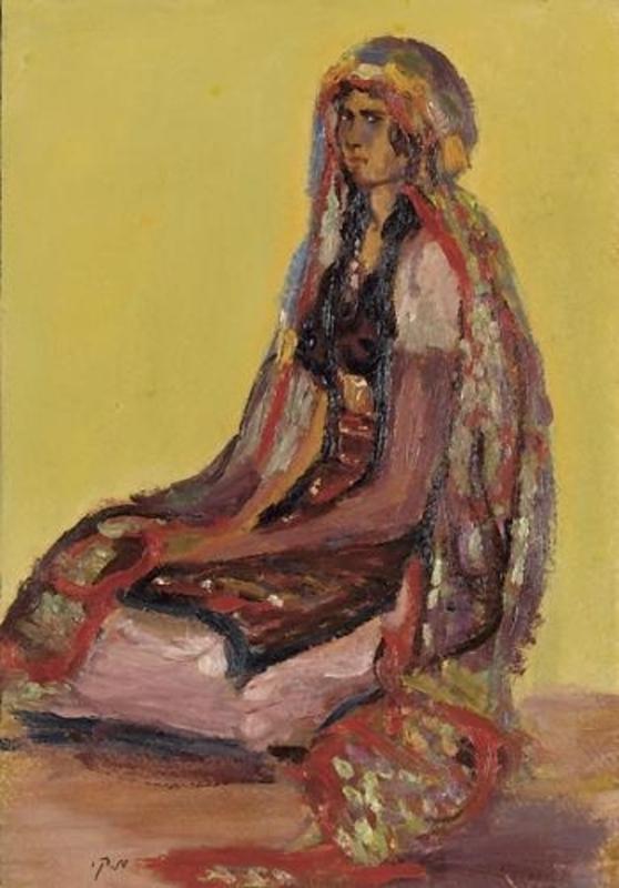 Moshé Elazar CASTEL - Painting - Girl from Jerusalem