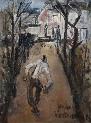 GEN PAUL - Gemälde - Les joueurs de boules à Montmartre