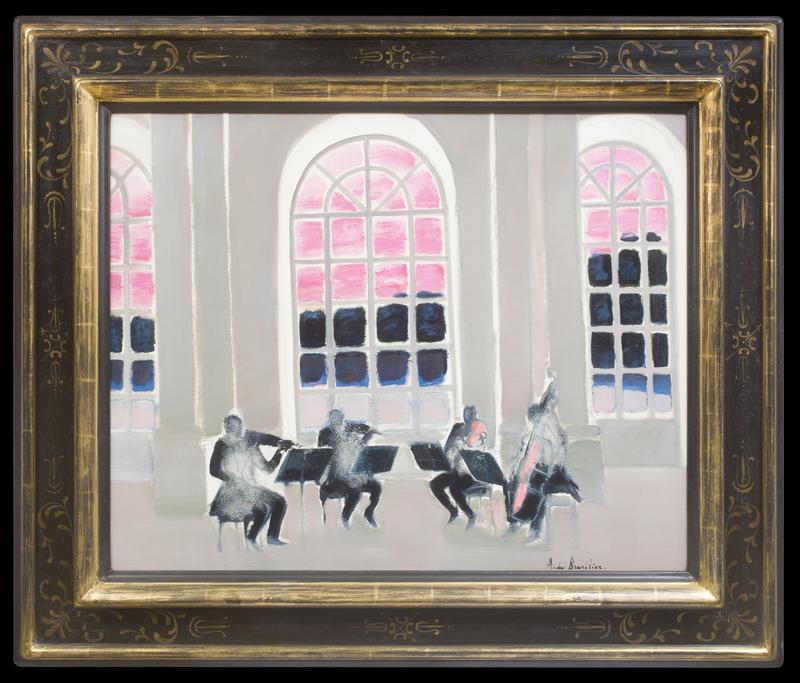 André BRASILIER - Pintura - Musique à Versailles