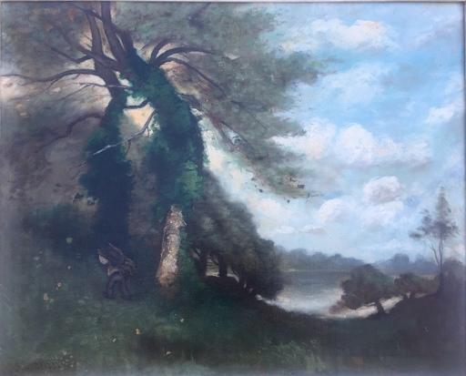 Paul Désiré TROUILLEBERT - Gemälde - Ramasseur de Fagots
