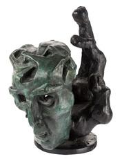 Ernst Iosipovitch NEIZVESTNY - Sculpture-Volume - Hand and Mask