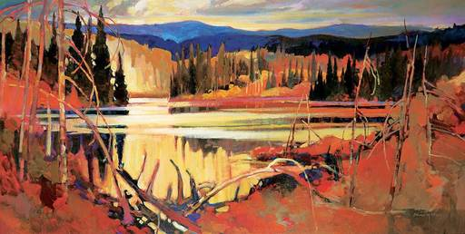 Brian ATYEO - Peinture - Shorelight Rhythms