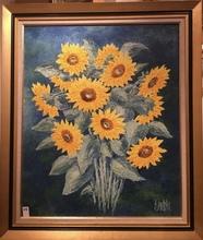 Raymonde AUBRY - Painting - Tournesols
