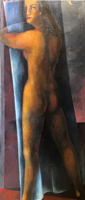 Ernst WOLFHAGEN - Gemälde - Stehender Akt mit Mondsichel