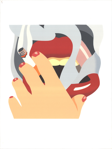 Tom WESSELMANN - Estampe-Multiple - Smoker, from an American Portrait
