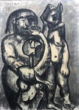 José Otero Abeledo LAXEIRO - Dessin-Aquarelle - familia