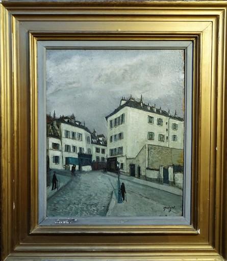 Alphonse QUIZET - Painting - Rue à PARIS
