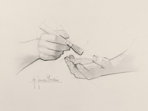 Fernando GARCIA MONZON - 水彩作品 - Make up 1