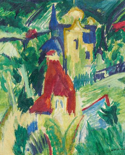 Ernst Ludwig KIRCHNER - Pintura - Mansion