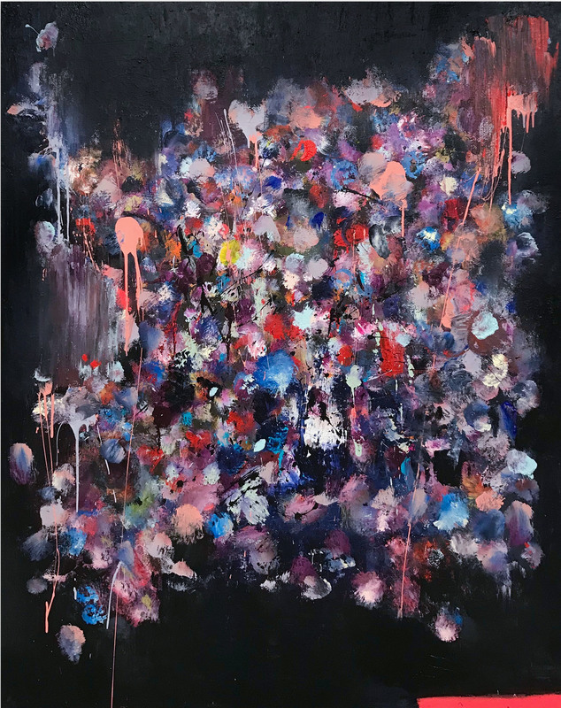 Tommaso FATTOVICH - Painting - Banquet (Abstract painting)