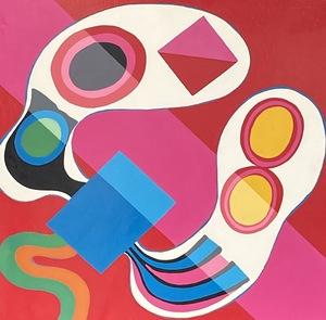 Jorge PÉREZ CASTAÑO - Painting - Composition 1969