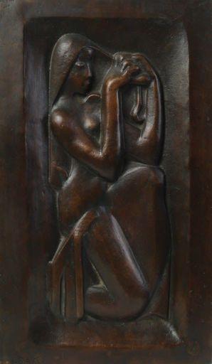 Joseph CSAKY - Sculpture-Volume - Girl Combing her Hair