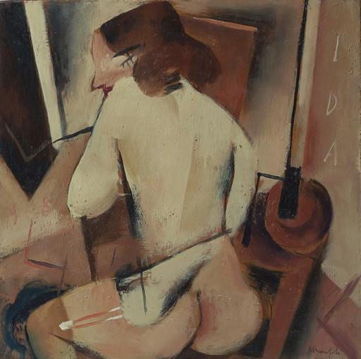 Alberto MANFREDI - Pittura - Donna di schiena