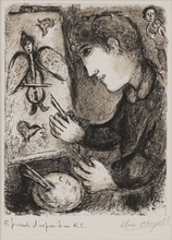 Marc CHAGALL - Estampe-Multiple - The easel