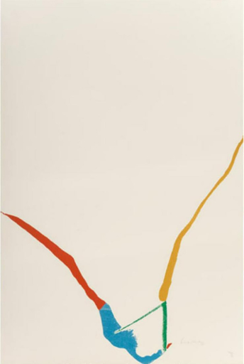 Helen FRANKENTHALER - Print-Multiple - Untitled from ''What red lines can do''