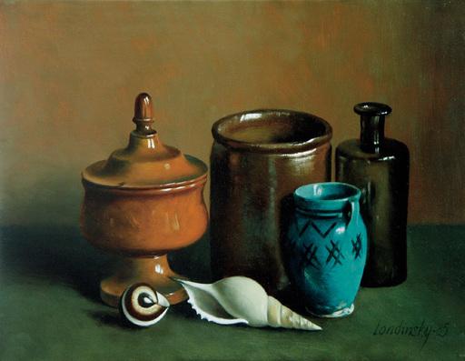 Bernard LONDINSKY - Pintura - Composition au petit vase bleu
