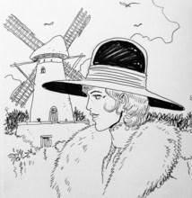 "Francis CARIN - Dibujo Acuarela - ""Viktor Sackville - Le code zimmermann"""