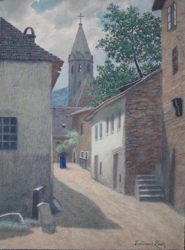 Ferdinand ZACH - Drawing-Watercolor - Dorf