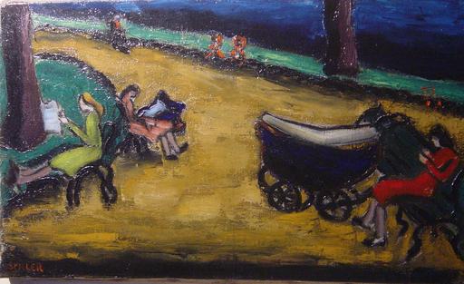 Jürg SPILLER - Gemälde - scène de parc