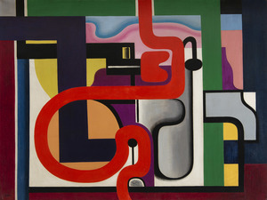 Auguste HERBIN - Painting - Composition