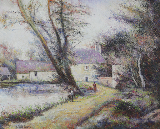 Hugues Claude PISSARRO - Pittura - L'Orme du Moulin