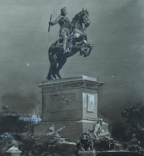 Ulpiano CHECA Y SANZ - El viaje del Rey -Madrid-Le voyage du Roi