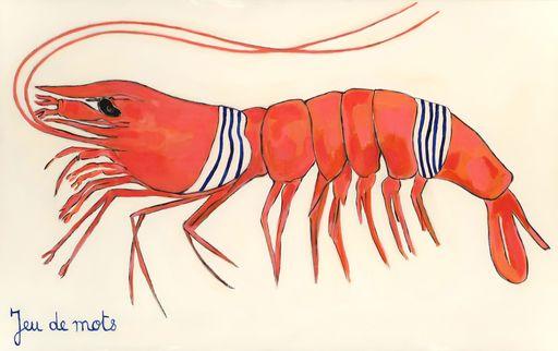 Richard BOIGEOL - Gemälde - Crevette Maillot