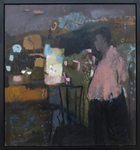 Jennifer HORNYAK - Peinture - Man With Pink Shirt