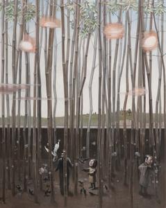 RU Xiaofan - Painting - Regard au travers d'une fenêtre