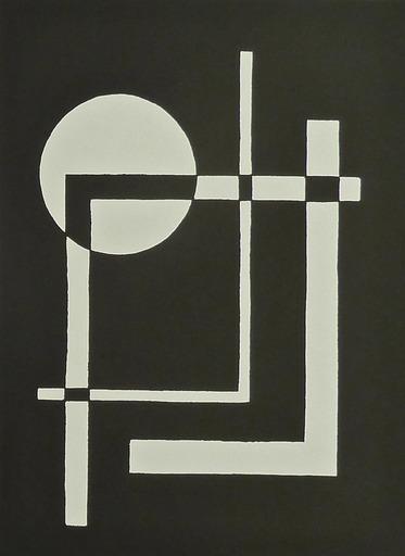 César DOMELA - 版画 - 10 Constructivist Studies 1924