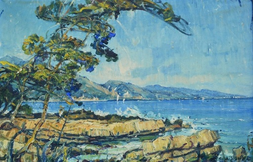 André SUZANNE - Peinture - Marine Menton