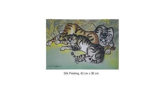 Mai LONG - Painting - Tigers Resting in Shade, Long 08